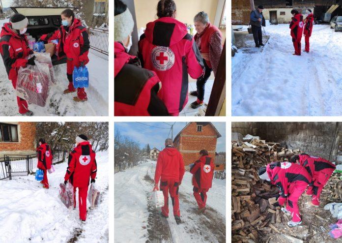 Crveni križ Gospić osamnaesti dan za redom pomaže stradaloj Banovini
